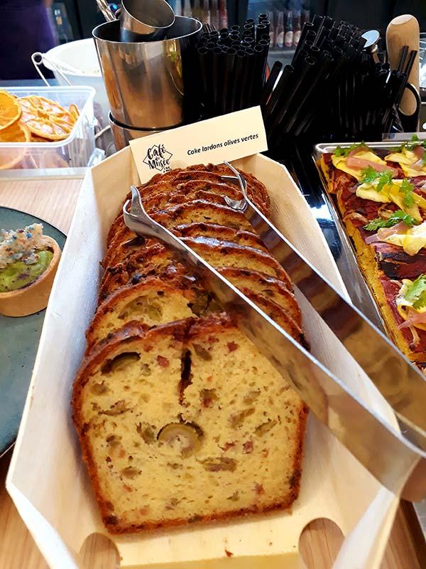 cake salé fait maison à déguster le weekend au café du musée à nantes